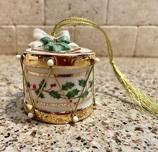 Lenox Sounds of the Season Drum Ornament Porcelain Nos