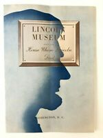 Lincoln Museum & The House Where Lincoln Died Vintage Brochure 1950 US Interior