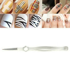 Nail Art Tips UV Gel Acrylic Painting Drawing Crystal Pen Polish Brush Pen Tool