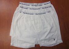 Polo Ralph Lauren Classic Cotton Boxer Shorts Undewear White L ~3 Pack~ NEW