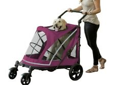 New Pet Gear No-Zip Expedition Extra Large Dog Cat Stroller Boysenber