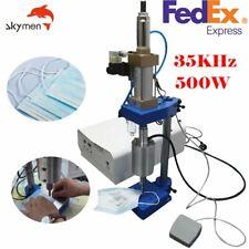 35KHz Ultrasonic Welding Machine for Ear Loop pneumatic with foot pedel 500W