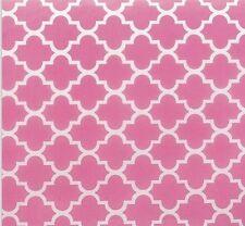 """Pink Quatrefoil Tissue Paper # 415 ...10 large sheets, 20"""" x 30"""""""