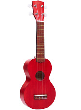 Mahalo MK1TRD Soprano Kahiko Ukulele with Bag and Pick - Transparent Red