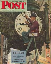 The Saturday Evening Post November 3 1945 Norman Rockwell Birthday Gift