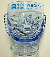 Norwegian Cruise Line NCL 3D Comedy & Tragedy Blue Acrylic Cocktail Cup Mug