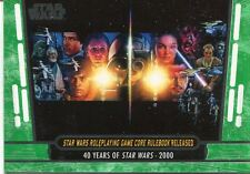 Star Wars 40th Anniversary Green Base Card #84 Star Wars Roleplaying Game Core