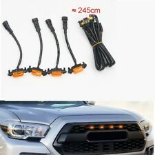 Plastic Car Grilles Grill LED yellow Lights 4PCS Fit For Toyota Tacoma 2016-2019