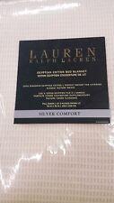 NIP:Lauren Ralph Lauren Egyptian Cotton Silver Comfort Bed Blanket - Cream Color