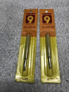 Lot 2 New Packages Hoppe's Gun Cleaning Cotton Swab For .22-.270 Caliber~1321