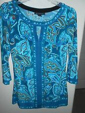 I.N.C. INTERNATIONAL CONCEPTS Womens Blouse Size S 3/4 Sleeve FREE SHIPPING!