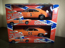Ertl American Muscle DUKES OF HAZZARD General Lee Race & Show Pair 1:18 Scale