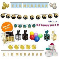 Eid Mubarak Kids Party Decorations Mubarak Badges Banner Balloons Flags Bunting
