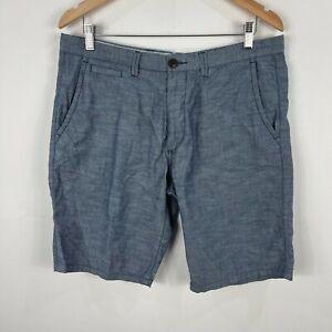 Jag Mens Shorts Size 34 Blue Zip Closure Chino Pockets Bermuda 217.35