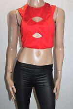 Ally Brand Red Wrap Zip Back Crop Top Size 10 BNWT #TH19