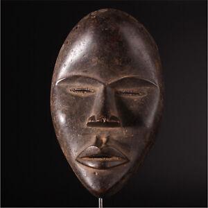 11724 Alte Maske der Dan Elfenbeinkuste Metal Ständer inclusive