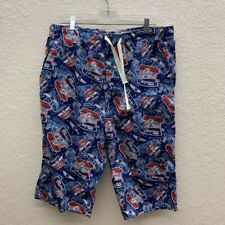 c9a249ac7a Disney Parks Mens Board Shorts Mickey Mouse Speed Shop Blue Swim Trunks  Suit 36