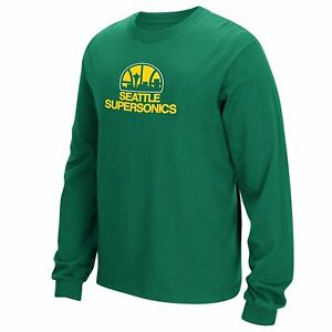 Seattle Super Sonics Throwback Vintage Hardwood Classics Long Sleeve Shirt