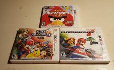 Super Smash Bros Mario Kart 7 Angry Birds 3DS Games Bundle