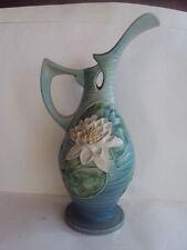 "Vintage Original Roseville 12-15"" Water Lilly Pottery Pitcher."