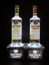 Bacardi Rum Limon Coco Light Up LED Lights Tiki Bar Bottle Lamp Display Man Cave
