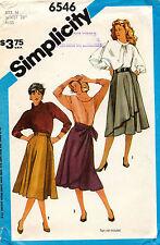 1980's VTG Simplicity Misses' Wrap Sklirts Pattern 6546 Size 14 UNCUT