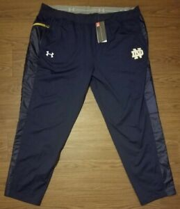 Under Armour Notre Dame Fighting Irish Threadborne Blue Track Pants NWT 3XL 4XL