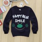 HAPPY FACE Bébé Garçon Enfants Manches Longues LETTRES T-shirt Haut T-shirt Pull