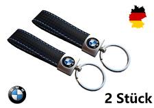 ★ 2x B-WARE BMW Carbon Leder Schlüsselanhänger Motorsport M1 M2 M3 M4 M5 M6 VW ★