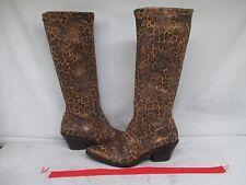 Donald J. Pliner Jokla 3 Cheetah Stretch Cowboy Boots Size 8 M