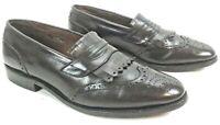 Men's Allen Edmonds Wakefield Loafers 8.5 D Dress Shoes Wing Tip Dark Brown
