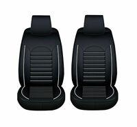 2x Elegant Schwarz / Weiß Sitzbezüge Schonbezüge Kunstleder für vordere Sitze