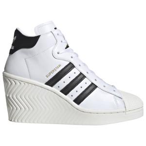 NIB*Adidas Superstar Ellure Wedge Sneaker*Womens*White Black*Size 6-10