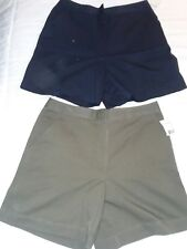 women's 14 studioworks 2 New Pair casual shorts navy blue olive green