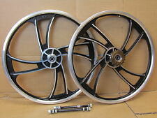 "20"" BMX Bike Mag Alloy Front & Rear Freestyle Wheels Wheelset"
