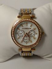 B061 Jcpennys Liz Claiborne Watch multidial day month *Needs pin repair, read*