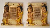 Vintage Burwood Squaw & Chief Wall Hanging Love Letters Humorous Collectible