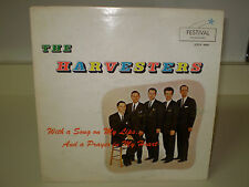 "THE HARVESTERS....""WITH A SONG ON MY LIPS"".......RARE HTF OOP  GOSPEL ALBUM"