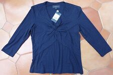VIYELLA - Navy & Blue Print Top - NEW - £55 - Size Small/ UK 8 to 10 -   REDUCED