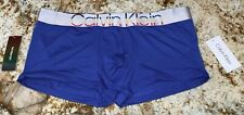CALVIN KLEIN Steel Microfiber Pride Edit Blue Low Rise Trunk Underwear NEW Men L