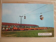 Postcard - BUTLIN'S MINEHEAD The Chair Lift and Camp Train. Unused.