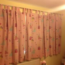 Laura Ashley 'Fun fairies' Pink Blackout Lined Curtains 5.19m Wide X 1.405m Drop
