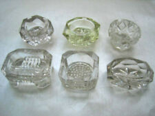 New Listing6 Small Glass Open Salts All Different Nice Lot