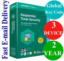Kaspersky Total Security 3 Device / 2 Year (Unique Global Key Code) 2020