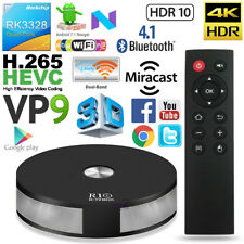 R10 Quad Core RK3328 Android 7.1 TV Box 2GB 16GB 4K WIFI Mini PC HDR VP9 BT HEVC