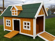 CHICKEN COOP RUN HEN HOUSE POULTRY ARK HOME NEST BOX COOPS RABBIT HUTCH NATURAL