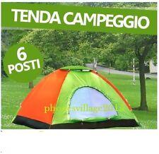 TENDA 6 POSTI CANADESE PER CAMPEGGIO MARE CAMPING ZANZARIERA CON SACCA OMAGGIO