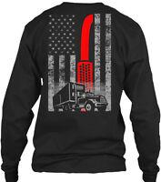 Trucker's Flag (amz) Gildan Long Sleeve Tee T-Shirt