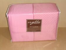 Cozelle 8 Piece Queen Sheet SetPink and pink with white dots.