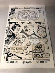 FOR LOVERS ONLY #72 COVER prod ART romance GOLDEN GREEK romance 1973 HUGE